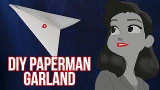 DIY Paperman paper plane garland