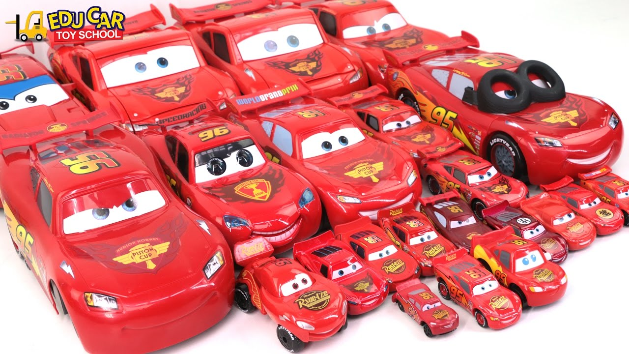 Red Color Special Disney Pixar Cars Lightning McQueen 22