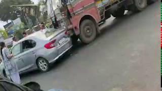 Car vs truck accident ll Vadodara ariport circle accident ll 🚕 vs 🚛 ll accident car ll