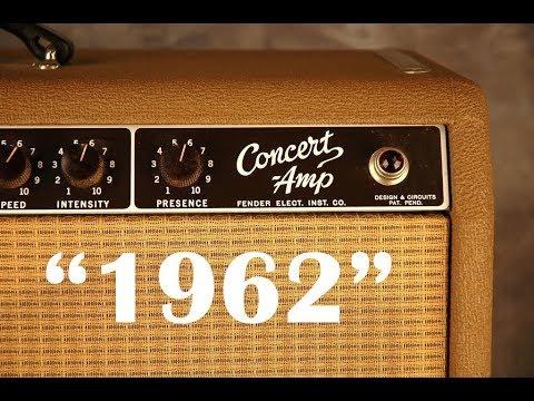 1962 Fender Concert Amp 1966 Stratocaster Demo 2