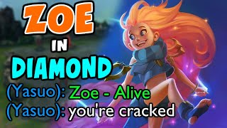 I took my Zoe to Diamond to see how it would go | Challenger Zoe | 11.3 - League of Legends