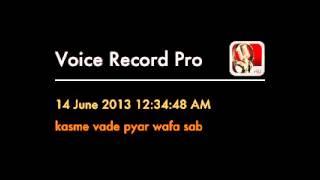 "rajeev sharma singing on karaoke""Kasme vaade pyar wafa sab"""