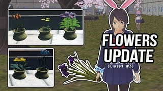 flower shop & 3 new chouchou's & bunny ears - School Girls Simulator Update