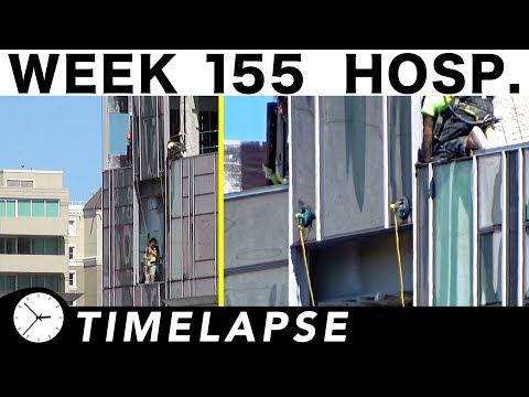 One-week construction time-lapse with various closeups/highlights: Week 155 (Hospital edition)