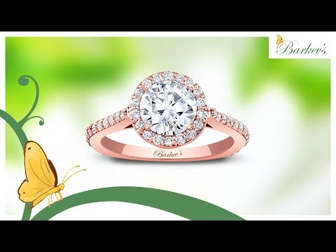 Barkev's Rose Gold Halo Engagement Ring – 7933LP