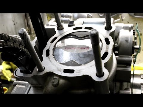 2015 KTM 250 EXC-F Engine Top End Rebuild (Four Stroke)