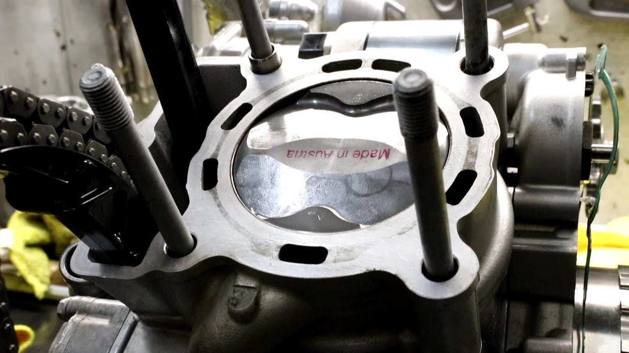 2015 ktm 250 exc f engine top end rebuild four stroke  [ 1280 x 720 Pixel ]
