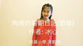 Publication Date: 2019-03-17 | Video Title: 培基小學_高小組_陶奇的暑期日記(節錄)