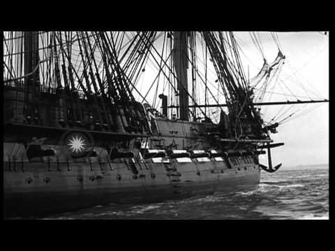USS Constitution reconditioned for the fourth time in Charlestown, Massachusetts. HD Stock Footage