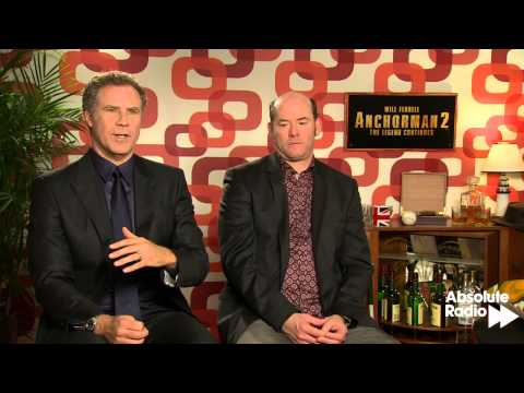 Will Ferrell and David Koechner Anchorman 2 Interview - with Absolute Radio