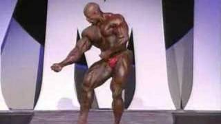 Ronnie Coleman posing routine mr.O 2005
