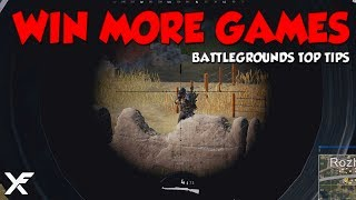 How to Win More Games - PlayerUnknown's Battlegrounds Top Tips