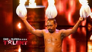 Indischer Feuerkünstler zündet sich alles an | Das Supertalent 2017 | Sendung vom 16.09.2017