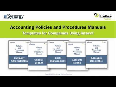 Accounting Policies  Procedures Manuals for Intacct - YouTube