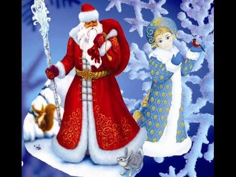 новогодний утренник в детском саду/человек паук и зайчики/дед мороз и снегурочка/снежинки