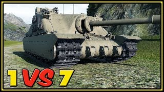Tortoise - 11 Kills - 1 VS 7 - World of Tanks Gameplay