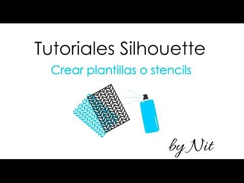 Diseñar y cortar plantillas (stencil) con Silhouette (Español)