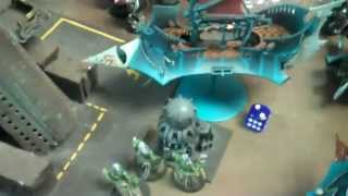 Grey Knights vs Dark Eldar 01 (city ruins) 40k Battle Report- Blue Table Painting