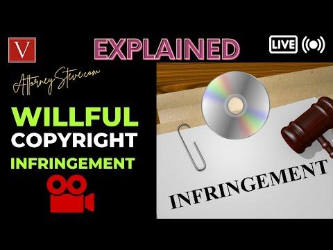 "Attorney Steve explains ""willful"" copyright infringement"