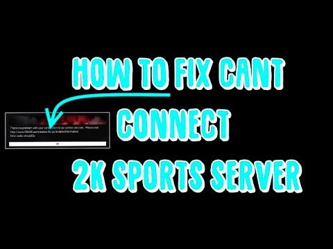 *NEW* HOW TO FIX ERROR ON NBA 2K17! HOW TO CONNECT BACK TO THE SERVERS!!!