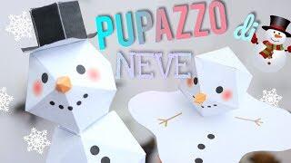Lavoretti fai da te, facili e veloci. segnaposto natalizi. addobbi di natale: pupazzo neve!vuoi fare un neve gigante con i bicchieri...