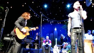 Every breath you take: sting, alan doyle, scott grimes, russell crowe, et al - indoor garden party