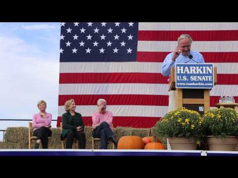 Tom Harkin Rips A Roast on Joni Ernst at Iowa Steak Fry 2014