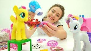 Видео для детей - Пони игры в  Веселой школе - Прически