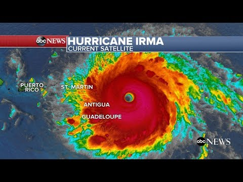 Hurricane Irma path and latest on category 5 storm