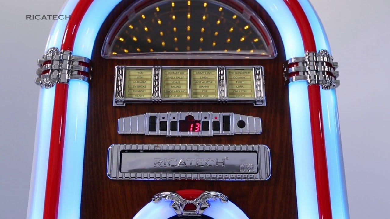 Ricatech RR791 London 5-colour LED Table-top Jukebox, CD ...