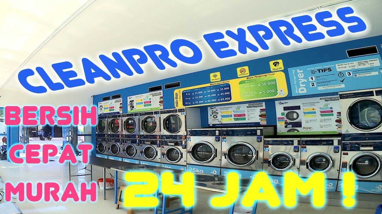 Cara Mencuci Di Self Service Laundry Cleanpro Express Youtube