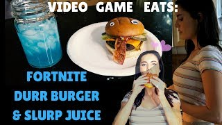 VIDEO GAME EATS: Fortnite Durr Burger and Slurp Juice Cocktail