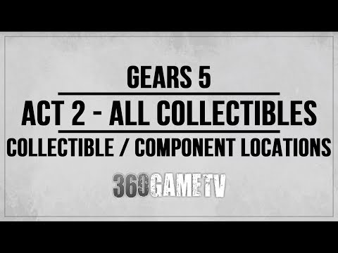 Gears 5 Act 2 All Collectibles / Components Locations Guide - Collectibles / Components Walkthrough