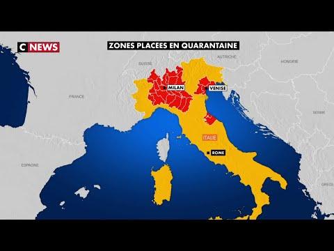 Coronavirus: une partie de l'Italie du Nord placée sous cloche
