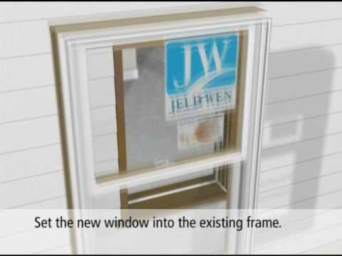 Jeld Wen Pocket Replacement Double Hung Wood Window Youtube