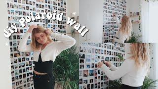 HOW TO MAKE A POLAROID WALL! | diy polaroid wall