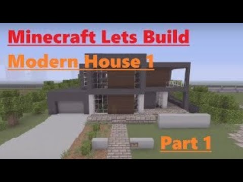 Minecraft Lets Build Modern House 1 Part 13 YouTube