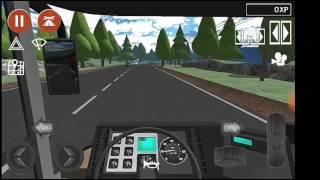 Public Transport Simulator Neoplan bus runs in countryside