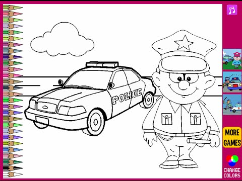 Police Officer Coloring Pages | via Free Coloring Pages ift.… | Flickr | 360x480