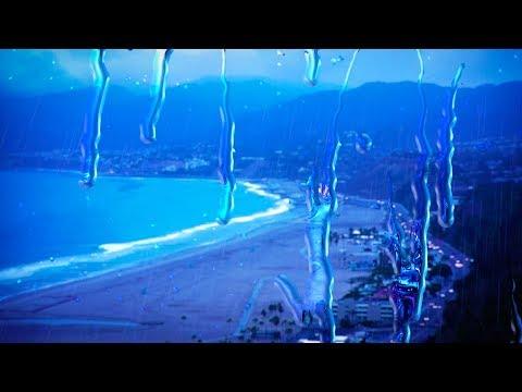 Rain with Ocean Waves 10 Hours | Sleep, Study, Focus with Rainstorm White Noise