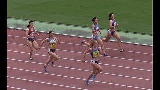 計4組で行われた女子200mタイムレース決勝はRiley DAYが唯一の23秒台の...