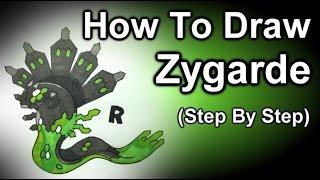 How To Draw Zygarde Step By Step