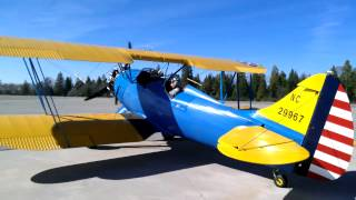 Waco  UPF-7 Biplane Nevada County Airport Grass Valley CA.