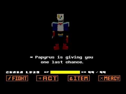 [Mine-imator] Disbelief Papyrus RIG | DOWNLOAD IN THE DESCRIPTION!