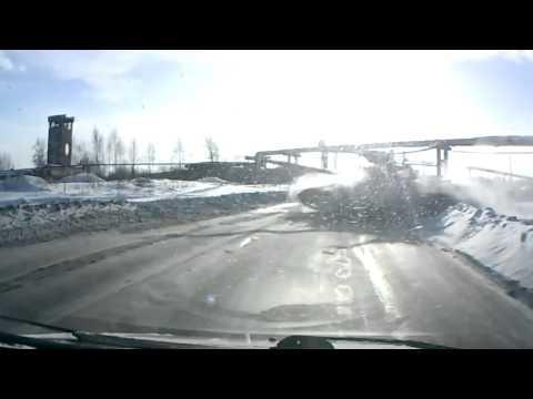 Танк на дороге. Видео с регистратора. Тагил