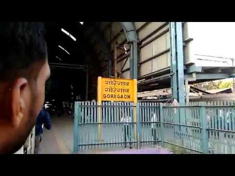 New Harbour Csmt Train Enter Goregaon Station