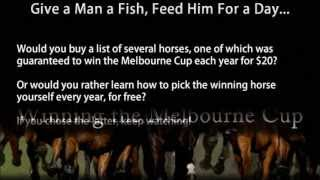 How to Pick The Melbourne Cup Winner Every Year, FREE