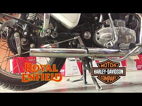 Royal Enfield Classic with Harley Davidson silencer: What it