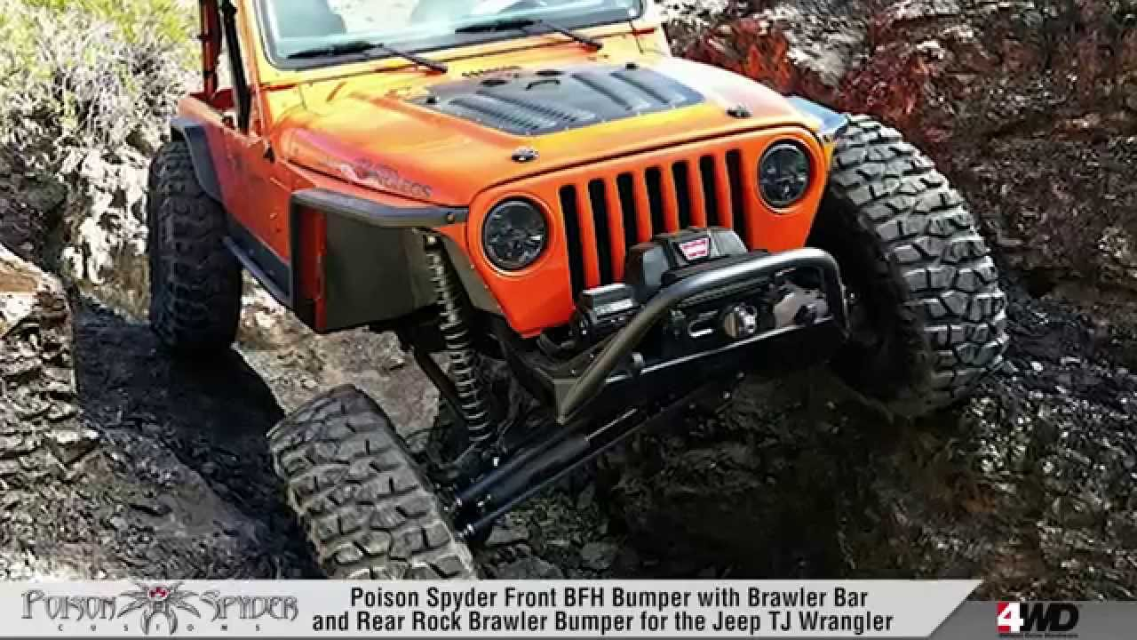 Poison Spyder Jeep Jk BFH FRONT BUMPER - POISON SPYDER - JEEP BUMPERS - YouTube