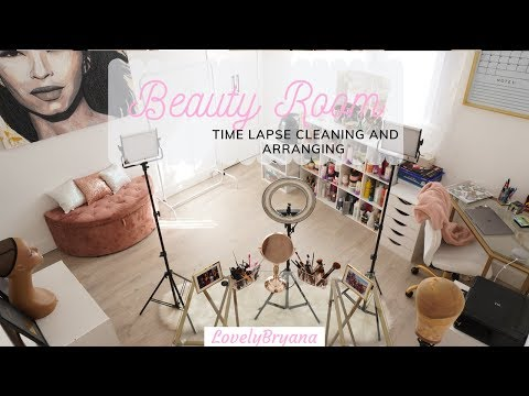 Clean with Me Time Lapse  | Beauty Room  | LovelyBryana